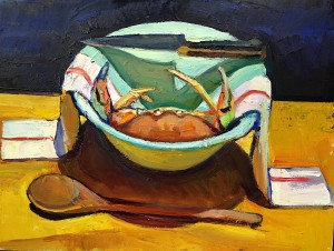 6.Crab, bowl, knife and spoon