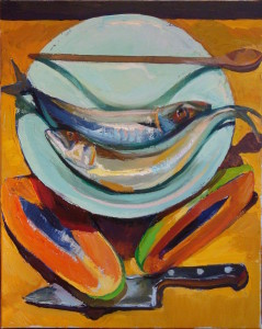 bowl-of-fish-with-papaya-knife