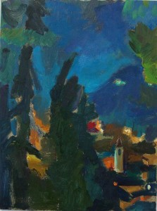 Midnight in Italy, oil on canvas